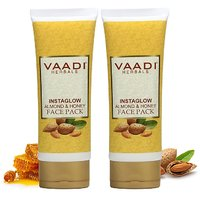 Vaadi Herbals Value Pack Of 2 Instaglow Almond  Honey Face Pack (120 Gms X 2)