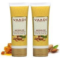 Vaadi Herbals Value Pack Of 2 Instaglow Almond  Honey Face Pack (120 gms x 2)
