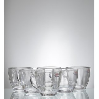 Yujing You N Me Glass 190 ML Tea Cups Set - Set of 6