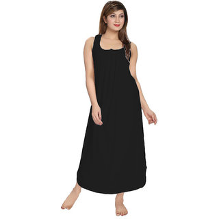Be You Fashion Women's Cotton Black Night Gown