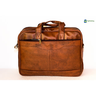 Safex Stylish Brown 14 inches Laptop Messenger Bag