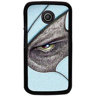 Ayaashii Black Shaded Eyes Back Case Cover for Motorola Moto E2::Motorola Moto E (2nd Gen)