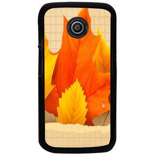 Ayaashii Faded Leaf Back Case Cover for Motorola Moto E2::Motorola Moto E (2nd Gen)