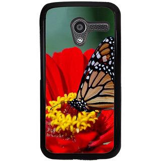 Ayaashii Butterfly On Red Flower Back Case Cover for Motorola Moto X XT1058::Motorola Moto X (1st Gen)