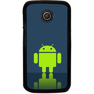 Ayaashii Green Android Back Case Cover for Motorola Moto E2::Motorola Moto E (2nd Gen)