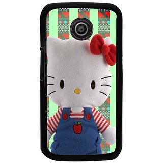 Ayaashii Hello Kitty Back Case Cover for Motorola Moto E2::Motorola Moto E (2nd Gen)