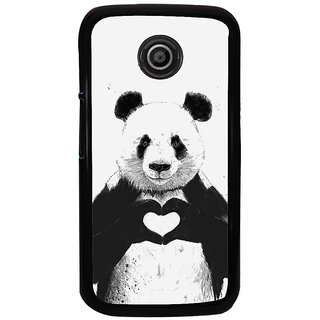 Ayaashii Teddy In Love Back Case Cover for Motorola Moto E2::Motorola Moto E (2nd Gen)