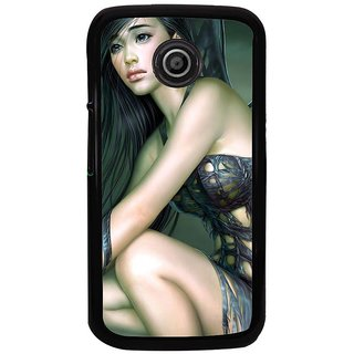 Ayaashii Animated Girl Back Case Cover for Motorola Moto E2::Motorola Moto E (2nd Gen)