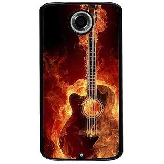 Ayaashii Burning Guitar Back Case Cover for Motorola Google Nexus 6