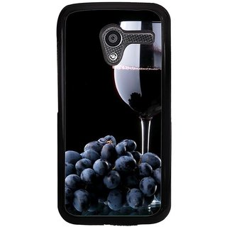 Ayaashii Grapes With Glass Of Wine Back Case Cover for Motorola Moto X XT1058::Motorola Moto X (1st Gen)
