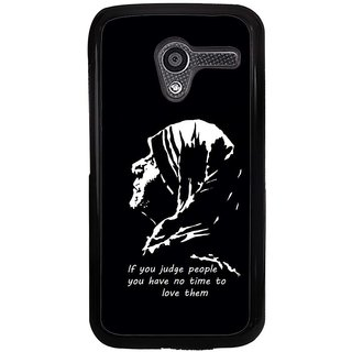 Ayaashii If You Judge The people You Have No Time to Love Back Case Cover for Motorola Moto X XT1058::Motorola Moto X (1st Gen)