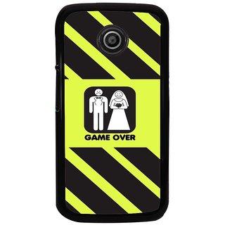 Ayaashii Game Over Back Case Cover for Motorola Moto E2::Motorola Moto E (2nd Gen)