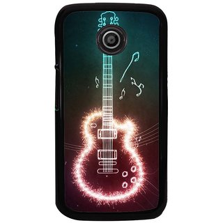 Ayaashii Rockstar Guitar Back Case Cover for Motorola Moto E2::Motorola Moto E (2nd Gen)