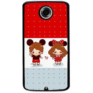 Ayaashii Two Chubbies Back Case Cover for Motorola Google Nexus 6