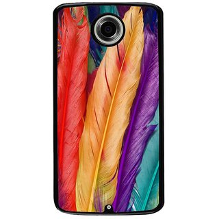 Ayaashii Colorful Paetals Back Case Cover for Motorola Google Nexus 6