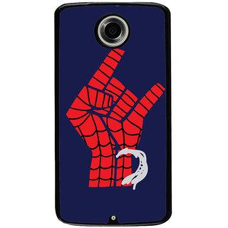 Ayaashii Spider Man Hand Back Case Cover for Motorola Google Nexus 6