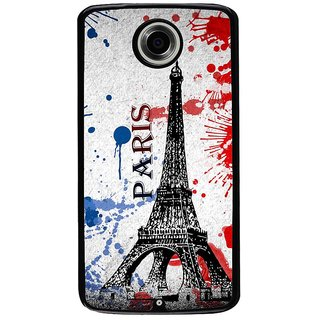 Ayaashii Paris Tower Back Case Cover for Motorola Google Nexus 6