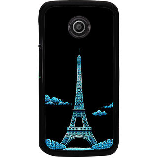 Ayaashii Eiffel Tower In Night View Back Case Cover for Motorola Moto E2::Motorola Moto E (2nd Gen)