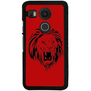 Ayaashii Sketch Of A Lion Back Case Cover for LG Google Nexus 5X::LG Google Nexus 5X (2nd Gen)