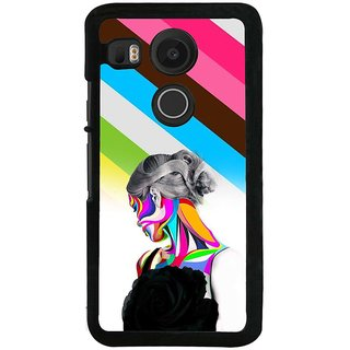 Ayaashii Colorful Girl Back Case Cover for LG Google Nexus 5X::LG Google Nexus 5X (2nd Gen)