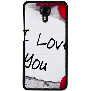 Ayaashii I Love U Back Case Cover for Micromax Canvas Xpress 2 E313::Micromax Canvas Xpress 2 (2nd Gen)