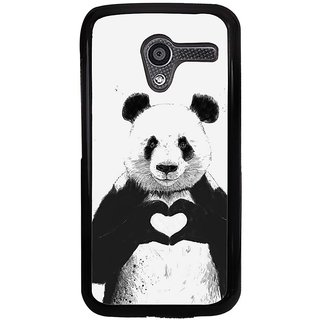 Ayaashii Teddy In Love Back Case Cover for Motorola Moto X XT1058::Motorola Moto X (1st Gen)