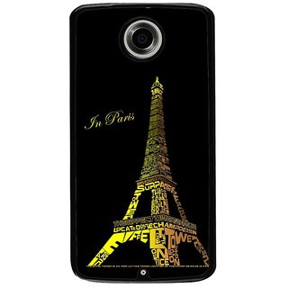 Ayaashii Eiffel Tower Back Case Cover for Motorola Google Nexus 6