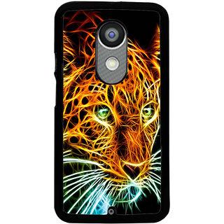 Ayaashii Tiger In Transperent Color Back Case Cover for Motorola Moto X2::Motorola Moto X (2nd Gen)