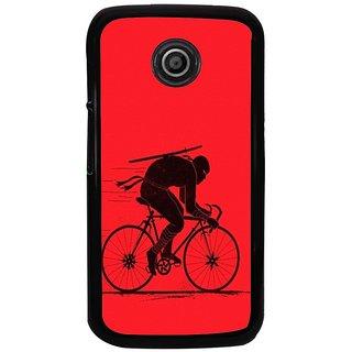 Ayaashii Cycle Rider Back Case Cover for Motorola Moto E2::Motorola Moto E (2nd Gen)