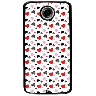 Ayaashii Play Cards Symbols Pattern Back Case Cover for Motorola Google Nexus 6