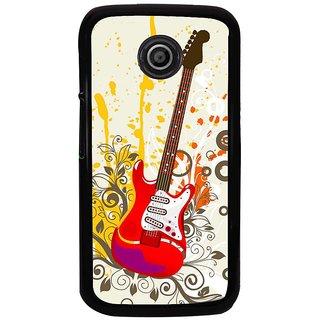 Ayaashii Colorful Guitar Back Case Cover for Motorola Moto E XT1021::Motorola Moto E (1st Gen)