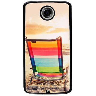 Ayaashii A Chair In A Beach Back Case Cover for Motorola Google Nexus 6