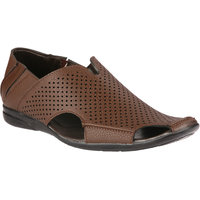 Wave Walk Brown Synthetic Men's Loafers