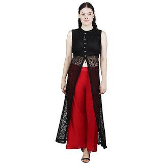 Rs Fashion Brown Floral Net Dress