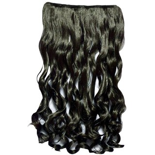 Homeoculture Curly Synthetic 26 inch 5 Clip Pin curly Hair Extension