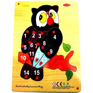 Learners Play Counting on Owl 1-15  ( Knob ) Size 9x12