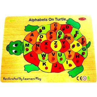 Learners Play Alphabet Turtle ( Knob ) Size 9x12