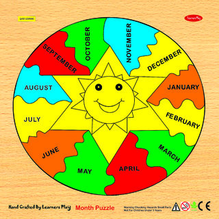 Learners Play Month Puzzle ( Knob ) Size 12x12