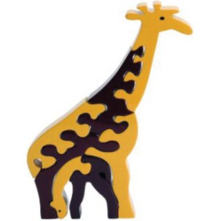 Learners Play Giraffe Family Jigsaw Puzzle-Colored