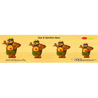 Learners Play Size & Serration Bear  Knob Puzzle Size 5x18
