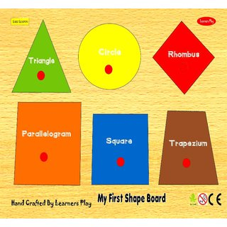 Learners Play Shape Board Small Size 9x 12