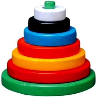 Learners Play Building Circle Stack Tower