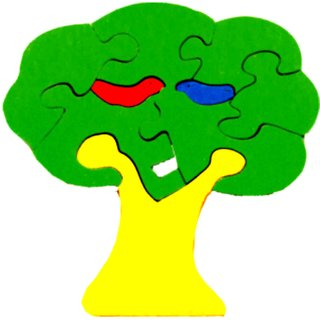 Learners Play Tree Jigsaw Puzzle-Colored