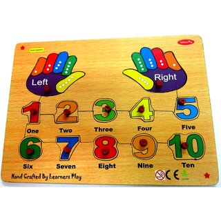 Learners Play Hands With Numbers Puzzle ( Knob ) Size 9x12