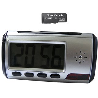 Spy Guru Spy Multi Function Table Clock Camera With 8GB Micro SD Card
