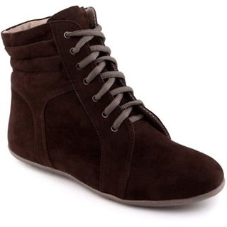 Red Bravo'S Womens Brown Lace Up Boots