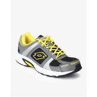 Lotto Speeder Black And Yellow Sports Shoes