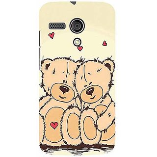 Casotec Teddy Bear Love Design 3D Printed Hard Back Case Cover for Motorola Moto G 1st Generation
