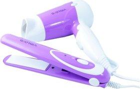 GeorgiaUSA GO-202 Hair Dryer + Hair Straightener  Combo