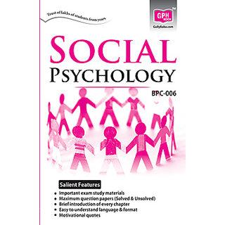 BPC006 Social Psychology (IGNOU Help Book for BPC-006 in English Medium)